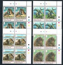 Falkland Is.2011 WWF Southern Sea Lion 4v Plate Blocks SG 1194/7 MNH