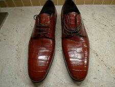$7,500 DOLCE&GABBANA DERBY CROCODILE COGNAC COLOR SHOES ITALY UK9,5 EU43,5 US10