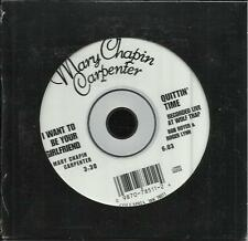 MARY CHAPIN CARPENTER I want to be w/ Quittn Time RARE LIVE TRK CD single SEALED