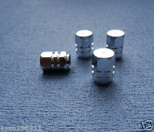 FIAT BRAVO PUNTO metallo argento polvere TAPPI VALVOLA PNEUMATICO RUOTA in alluminio copertura ESAGONALE