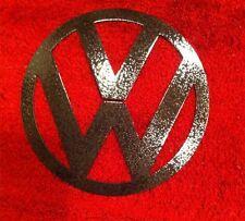 "Volkswagen Vw 16"" Black Hammered Metal Logo 3"