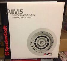 "A lot of 2 Speakercraft AIM5 One 5"" In-Ceiling Speaker White ( Each ) ASM82511-1"