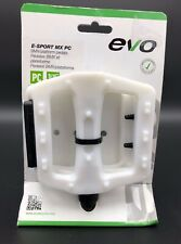 EVO BMX Plastic White Pedals 9/16 Dirt Street BMX/Platform New