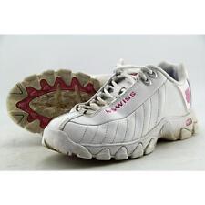 K-Swiss St329 CMF White/shocking Pink Memory Foam Trainer Leather US Women Sizes 7