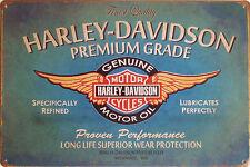 Premium Grade Oil Metal Plaque / Motorbike Motorcycle 20x30 cm Tin Sign