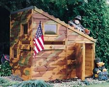 Command Post Childrens Wooden Playhouse