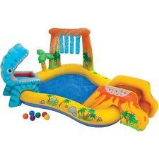 NIB-Intex Dinosaur Play Center Inflatable Swimming Pool Kids Kiddie Water Slide