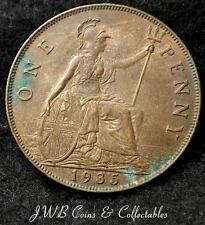 1935 George V 1d One Penny Coin - Great Britain - Ref ; T/M