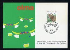 SCHWEIZ Nr.1461 SONDERKARTE OLMA MILCH / KÜHE 8.-18.10.1998 !!! (132451)