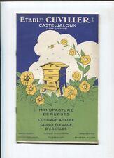 N°7726 / catalogue : Ets Cuvillier à Casteljaloux : ruches , outillage apicole