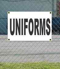 2x3 UNIFORMS Black & White Banner Sign NEW Discount Size & Price FREE SHIP