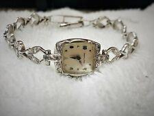 Hamilton Women's Wrist Watch 14K Solid Gold and Diamonds Model 757 22J