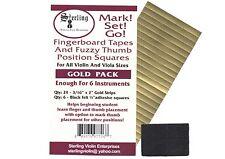 Sterling-Mark!Set!Go! GOLD Violin/Viola Fingerboard Tapes & Felt Thumb Squares