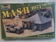 Revell Mash 4077Th 1:35 Swamp Scene Tent Jeep Vehicle Mash Figures #4335