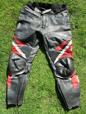"MEN'S iXS LEATHERS SIZE 36"" WAIST BLACK MOTORCYCLE LEATHER TROUSERS"