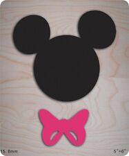 Mickey, bow Wooden Die Steel Rule Die Fits Big shot Pro, Sizzix New default