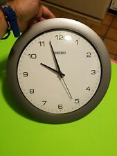 Xclnt! SEIKO Silent Wall Clock modern non-ticking 12 inch accurate sweep! EUC!