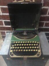 Vintage  Remington Portable Typewriter Model 2 Green & Ivory 1920's