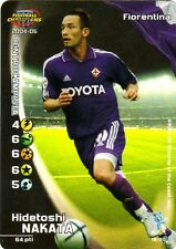 FOOTBALL CHAMPIONS 2004-05 Hidetoshi Nakata 19/80 Fiorentina ITA WIZARD FOIL