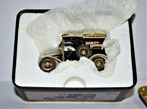 Harley Davidson 1913 Ford Model T Van dime bank, 1/43 Ltd. Ed. in Tin Box NOS