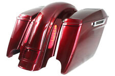 """Red hot sunglo 4.5"""" ABS 6*9 speaker lids bags +CVO REAR FOR 2009-2013 HARLEY"""