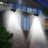 100LED Solar Power Wall Light Motion Sensor Waterproof Outdoor Garden Lamp Hot