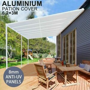DIY Pergola Roofing Patio Cover Kit 6.2m x 3m Outdoor Veranda Roof Carport