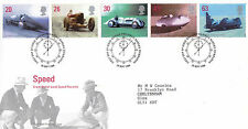 29 SETTEMBRE 1998 velocità di Royal Mail First Day Cover Bureau SHS