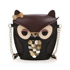 Owl cute Women Handbag PU Shoulder crossbody Bag Mini Satchel Tote Purse Bags