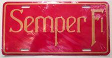 "Semper Fi USMC United States Marine Corps Stamped Aluminum License Plate 12""x6"""