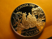 Canada Rare 1989 Silver Dollar Proof Gem High Grade IDJ281.