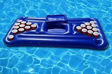 Inflatable Pool Pong Table Float. Beer Pong Lilo Lounger Beach Drinking Game