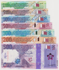 Qatar Full Set  (500 , 200 , 100 , 50 , 10 , 5 , 1 ) 2020 New Issue UNC