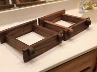 Custom Made Walnut Speaker Stands for JBL 4312A C D E MKII ABK Series Speakers