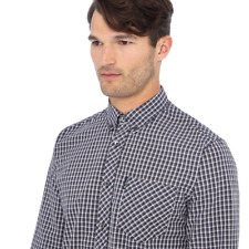 Ben Sherman 53097 blue cotton long sleeve shirt