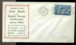 WWII PATRIOTIC -ATOM BOMB CONFERENCE OPENS 11/10/45 FIDELITY SHERMAN UNLISTED