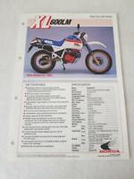 HONDA XL600LM TRAIL Motorcycle Sales Specification Leaflet c1985