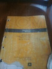 John Deere 770B 770Bh 772Bh Motor Grader Owner Operator's Maintenance Manual
