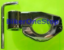 MRUMNT01 - Clamp On MIRROR ADAPTOR 10mm Suits 22 & 25mm Motorbike Handlebar NEW