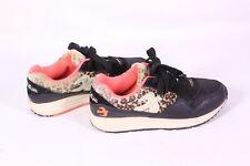 12D Brakeburn Damen Sneakers schwarz braun neon Leopardenmuster Gr. 37 Fell