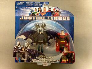 2003 MATTEL JUSTICE LEAGUE NIGHT FLIGHT BATMAN & SUPERMAN ACTION FIGURE 2-PACK