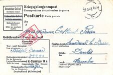 CPA PRISONNIERS DE GUERRE / KRIEGSGEFANGENENPOST STAMMLAGER IX A 1943