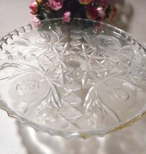 Lead crystal cake stand
