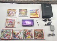 NEW Nintendo 3ds XL Galaxy Edition w/ Case, 9 Games Mario Zelda DK Kirby Smash +