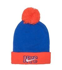 NIKE Sportweare NYC Shatter Beanie, Blue/Orange/White, MSRP $30