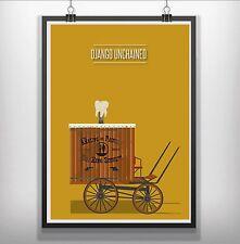 DJANGO Unchained minimalista Minimal FILM MOVIE print Poster