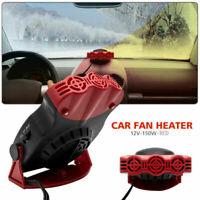 New 2 In 1 Car Heater Ceramic 12 Volt Cooling Fan 150 Watt Van Summer Winter UK
