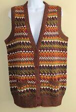 New Peruvian Connection 100%Alpaca Art-to-Wear Long Jacquard Sweater Vest Sz S