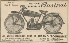 Y7710 Motos AUSTRAL 175 cc. - Pubblicità d'epoca - 1926 Early advertising