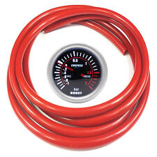 52mm CN-1 Smoked Turbo Boost Gauge 2 Bar With Red Silicone Hose